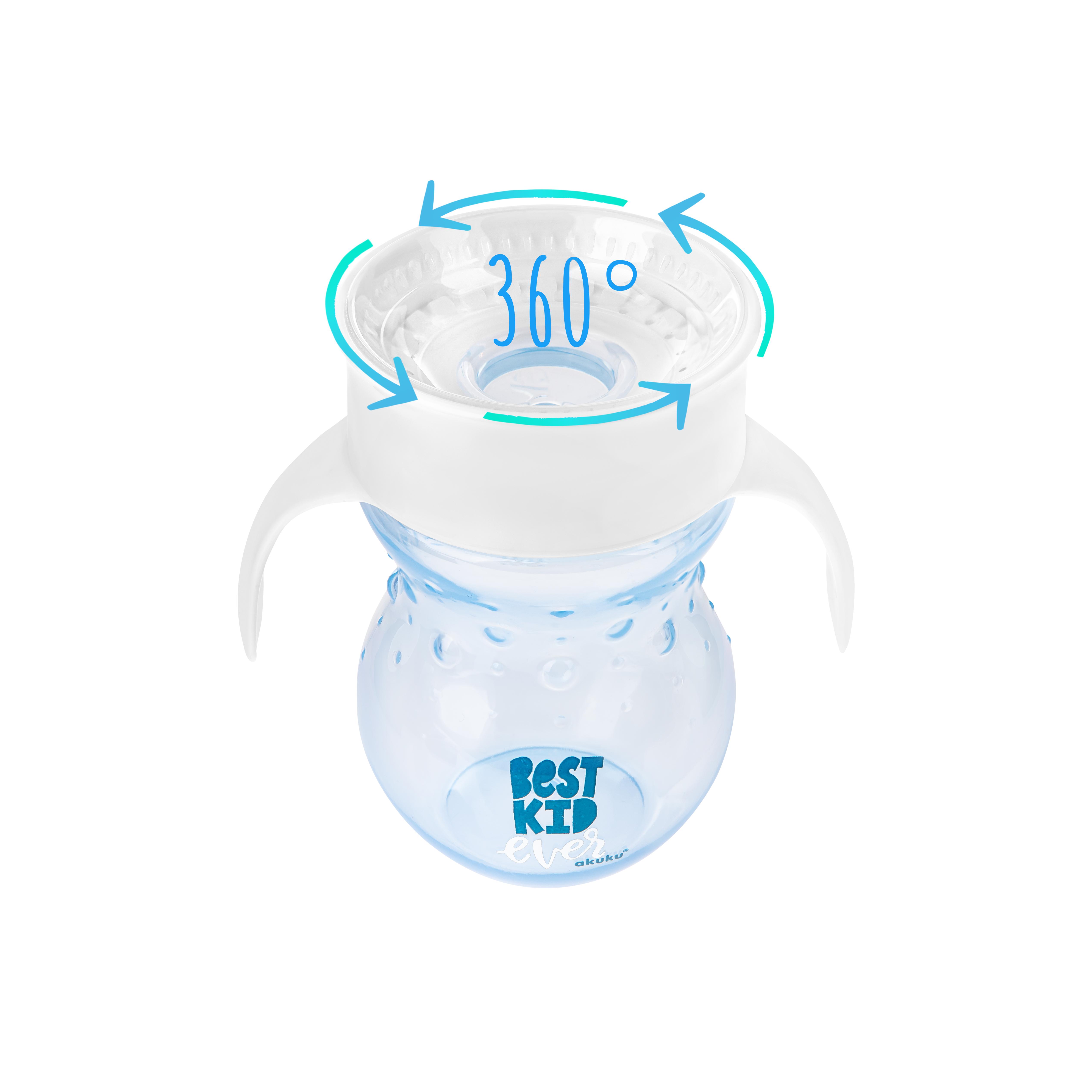 Akuku neišsiliejantis puodelis - gertuvė nuo 12 mėn. 360°, A0010