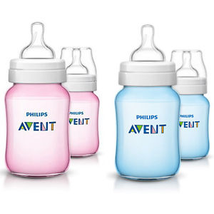 Avent buteliukas 260 ml Classic+  ROŽINIS/MĖLYNAS