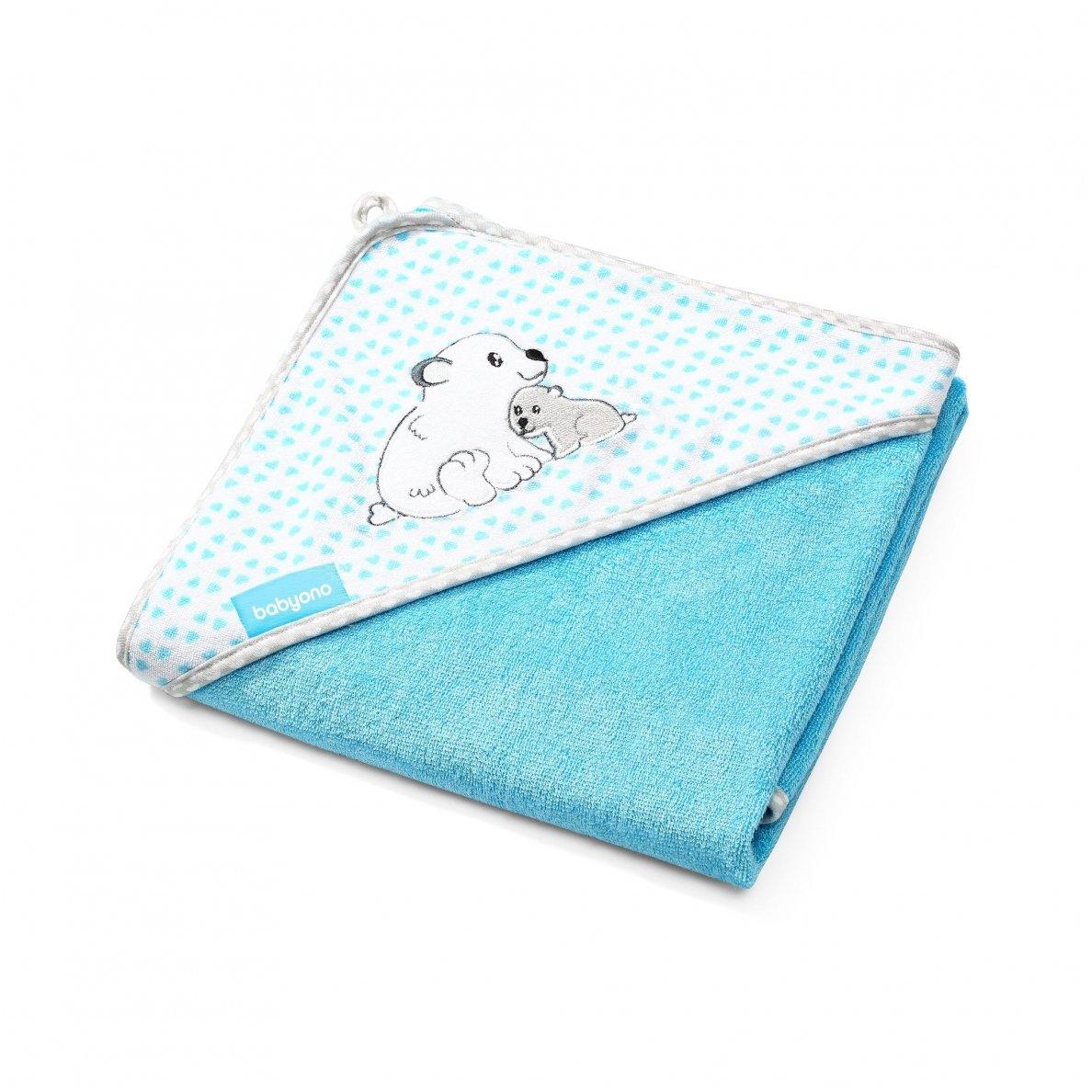 BabyOno rankšluostis su gobtuvu BAMBUKINIS 76X76 Mėlynas