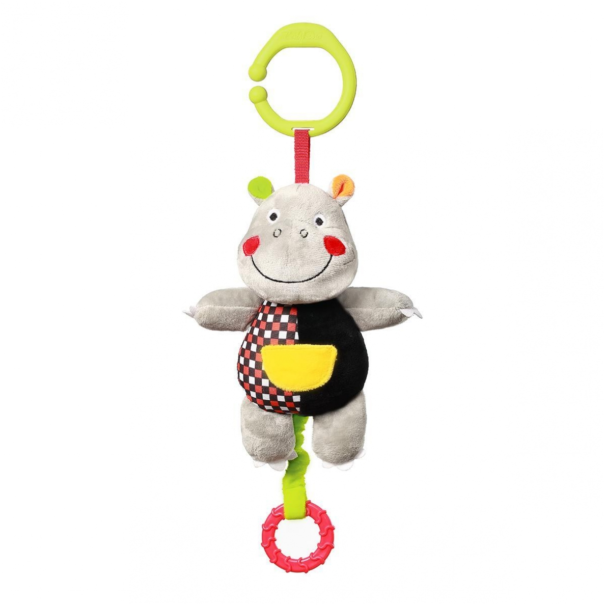 BabyOno vibruojantis žaislas su muzikėle HIPOPOTAMAS, C-MORE