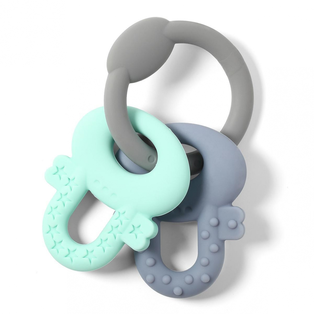 BabyOno kramtukas raktai, ORTHO (pilkas/mėtinis)