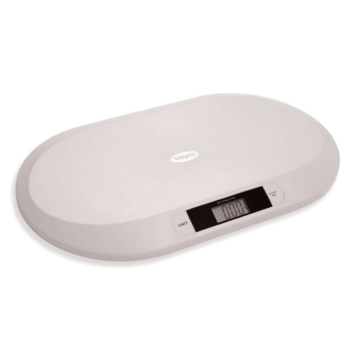 BabyOno elektroninės svarstyklės iki 20 kg, PILKOS