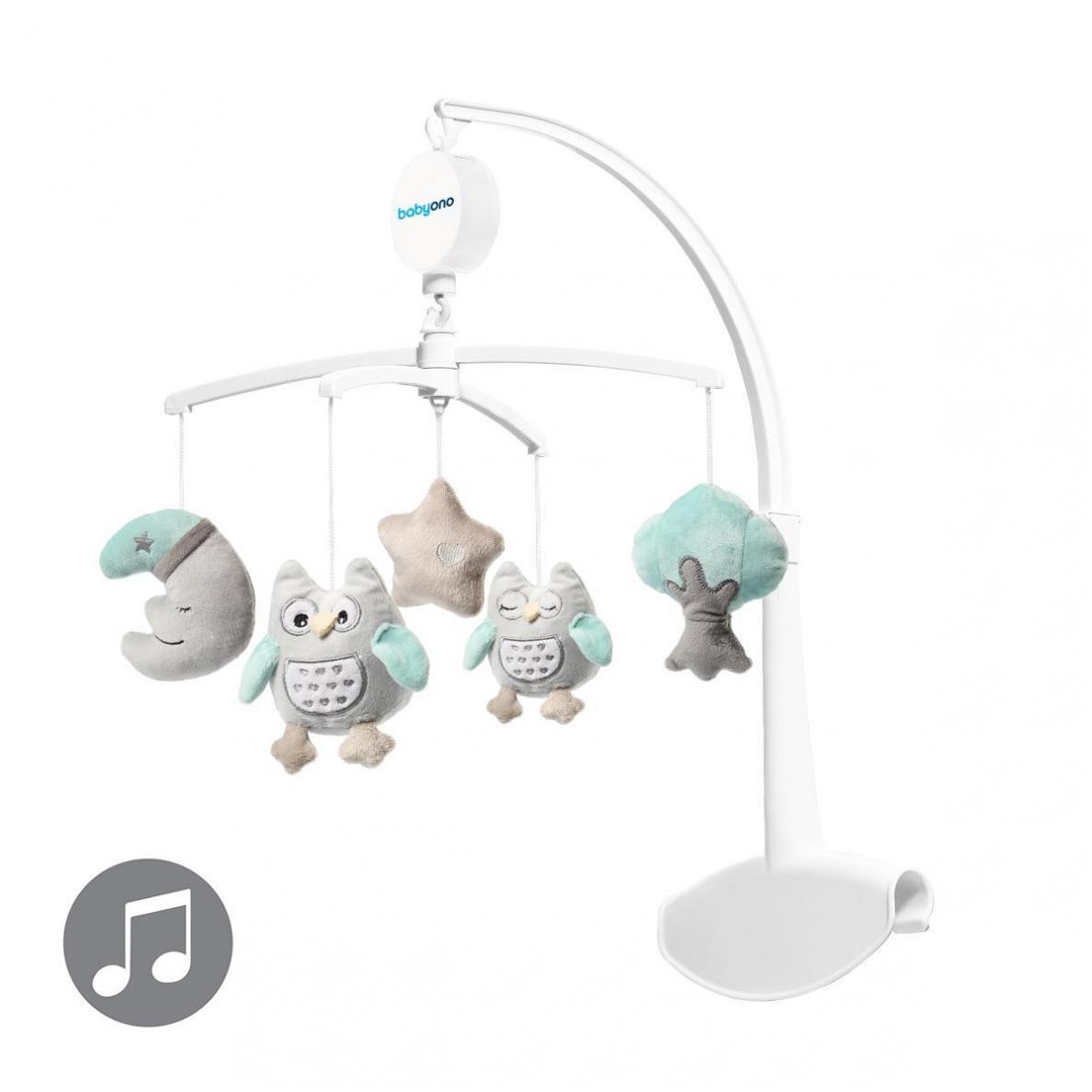 BabyOno muzikinė karuselė OWL SOFIA
