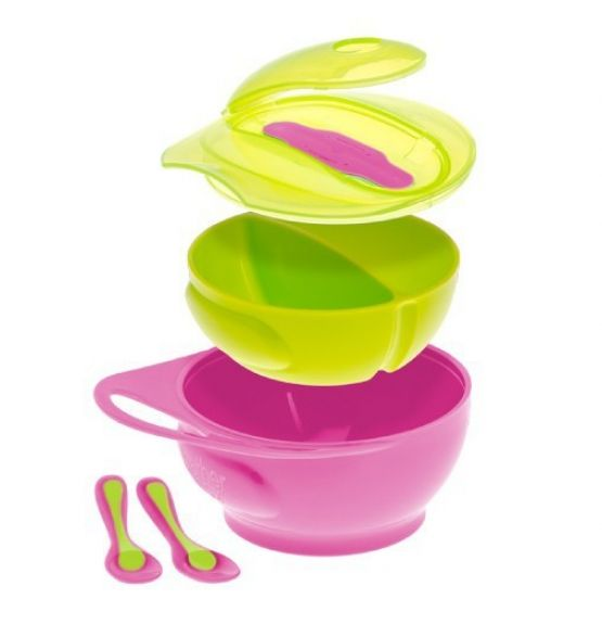 Brother Max valgymo rinkinys Easy Hold Weaning Bowl Set