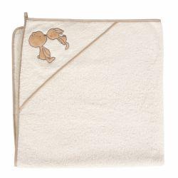 Cebababy rankšluostis su gobtuvu 100x100 kreminis - porelė