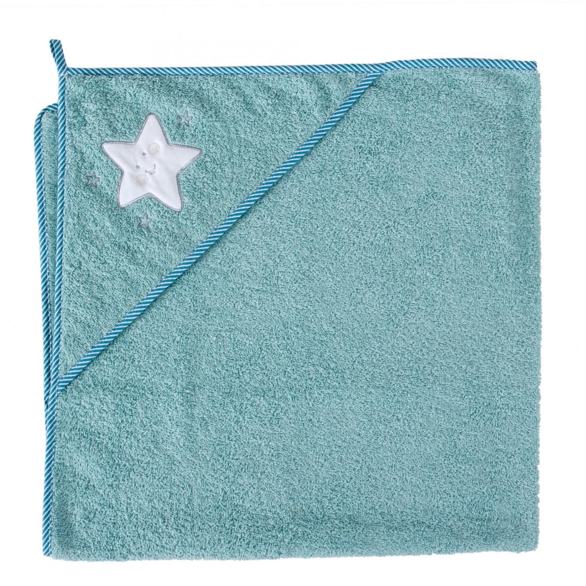 Cebababy rankšluostis su gobtuvu 100x100 mėlynas-žvaigždė