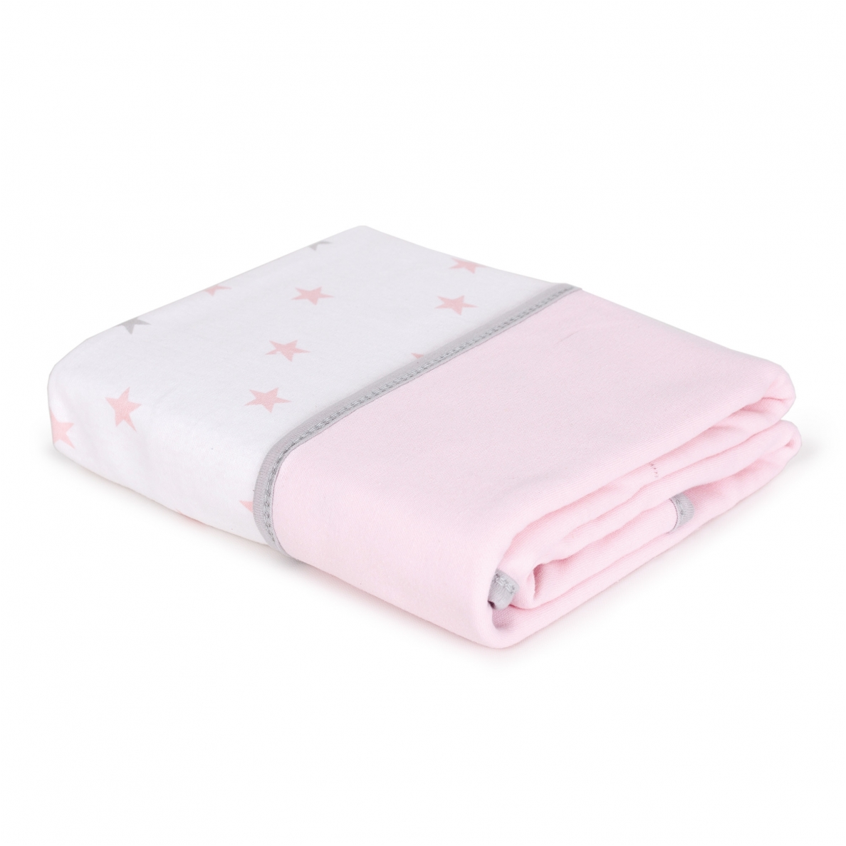Cebababy Pledas Jersey 90x100 rožinis - žvaigždutės