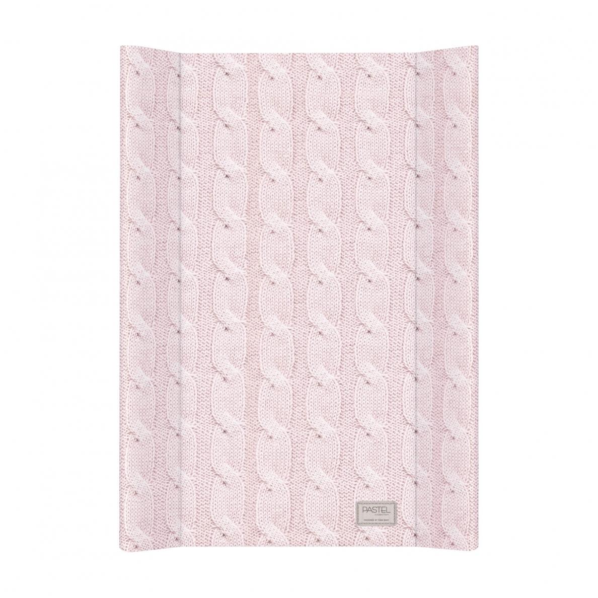 Cebababy vystymo lenta kieta, 70 cm, PASTEL, megzta raštais-rožinė