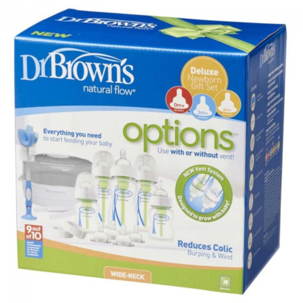 DR. BROWN'S OPTIONS naujagimio rinkinys su sterilizatoriumi