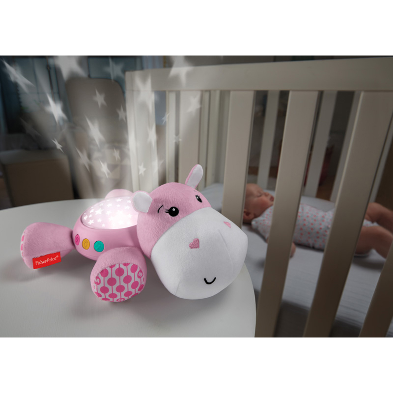 Fisher Price projektorius Hippo Plush ROŽINIS