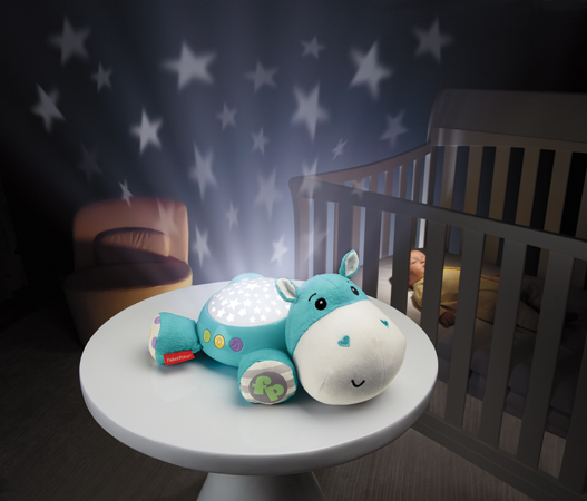 Fisher Price projektorius Hippo Plush MĖLYNAS