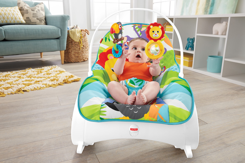 Fisher Price gultukas iki 18 kg  Infant to Toddler Rocker Blue