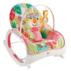 Fisher Price gultukas iki 18 kg Infant to Toddler Rocker ROŽINIS