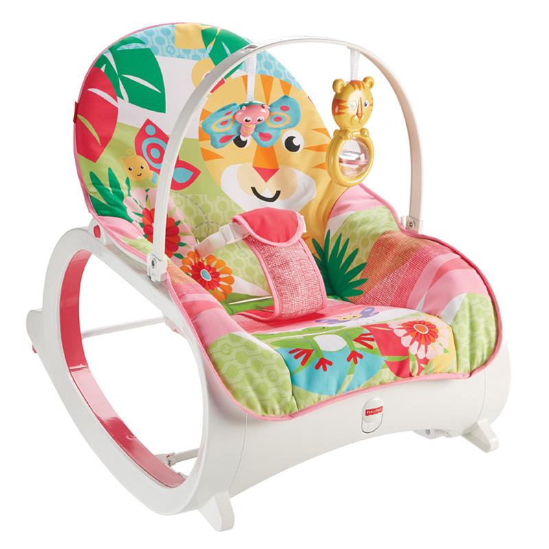 Fisher Price gultukas iki 18 kg Infant to Toddler Rocker ROŽINIS