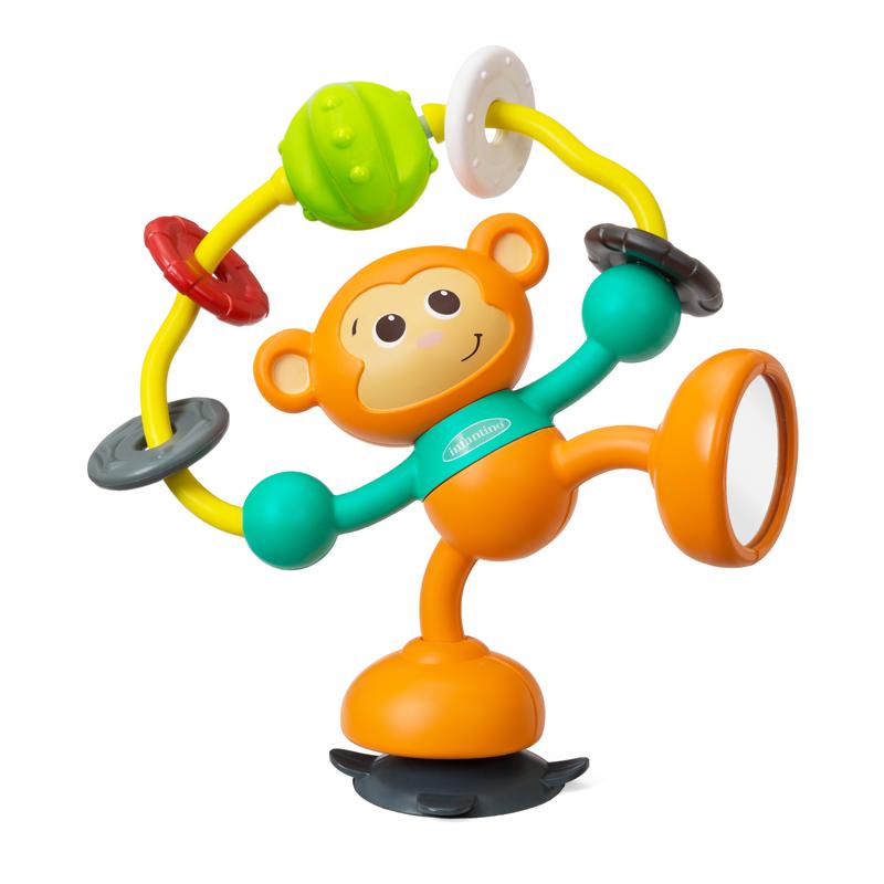Infantino lavinamasis žaislas tvirtinamas prie maitinimo kėdutės Stick & Spin