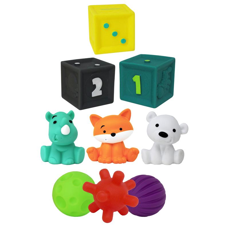 Infantino lavinamųjų žaislų rinkinys Tub O' Toys, 9 vnt.