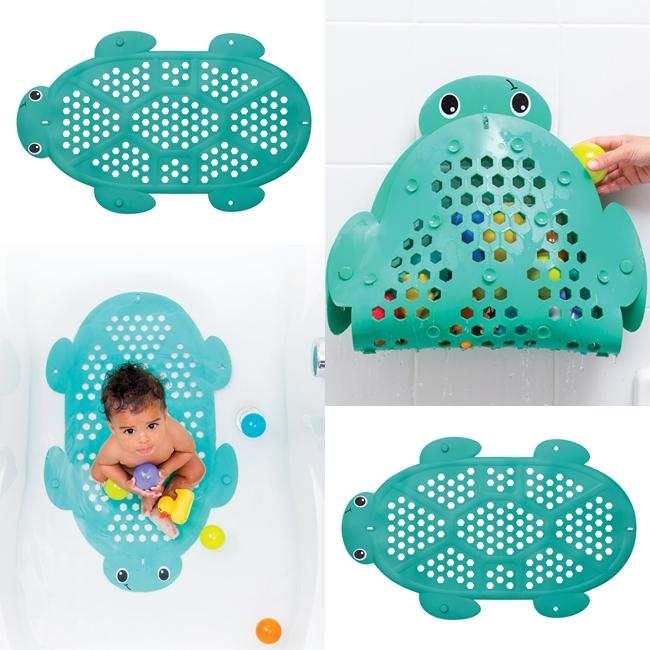 Infantino neslystantis vonios kilimėlis ir žaislų laikiklis  2in1