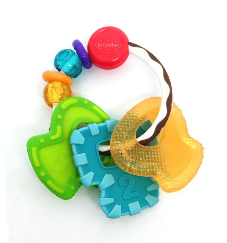Infantino kramtukai RAKTAI Go Gaga Slide & Chew Teether Keys