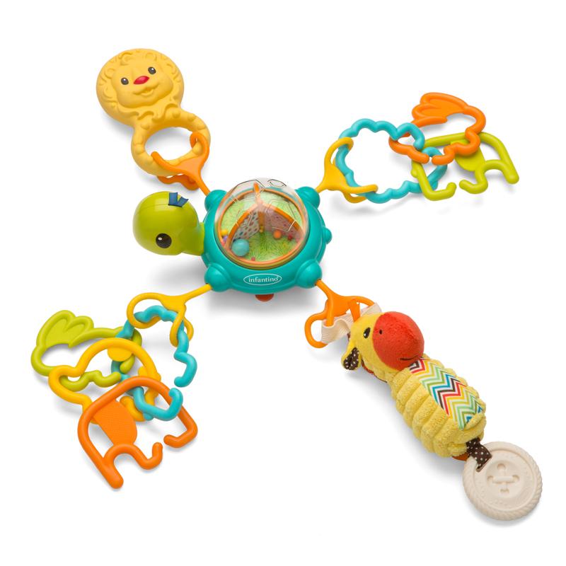 Infantino prie paviršiaus tvirtinamas lavinamasis žaislas VĖŽLYS 3m+ Cologne