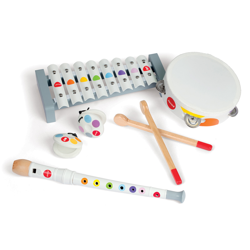 Janod muzikos instrumentų rinkinys Confetti Musical Set