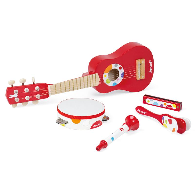 Janod muzikos instrumentų rinkinys Confetti Music Live Musical Set