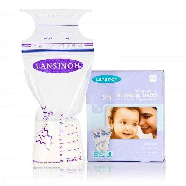 Lansinoh pieno šaldymo maišeliai (25 vnt.)