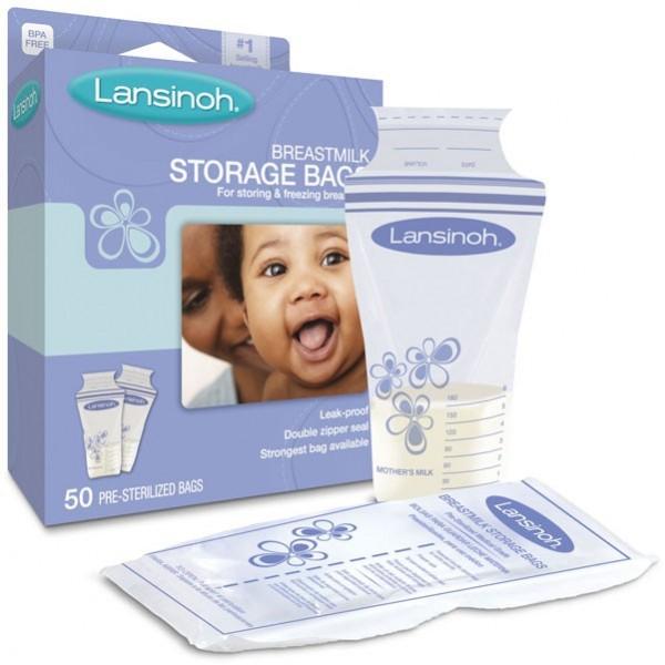 Lansinoh pieno šaldymo maišeliai (50 vnt.)