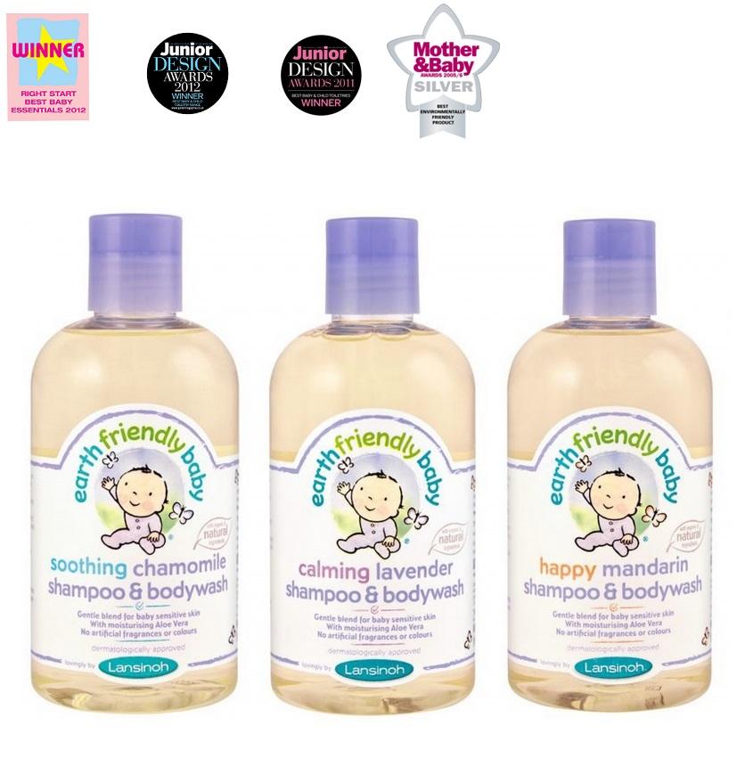 """Lansinoh šampūnas ir kūno prausiklis kūdikiams  """"Earth friendly baby"""", 250 ml"""