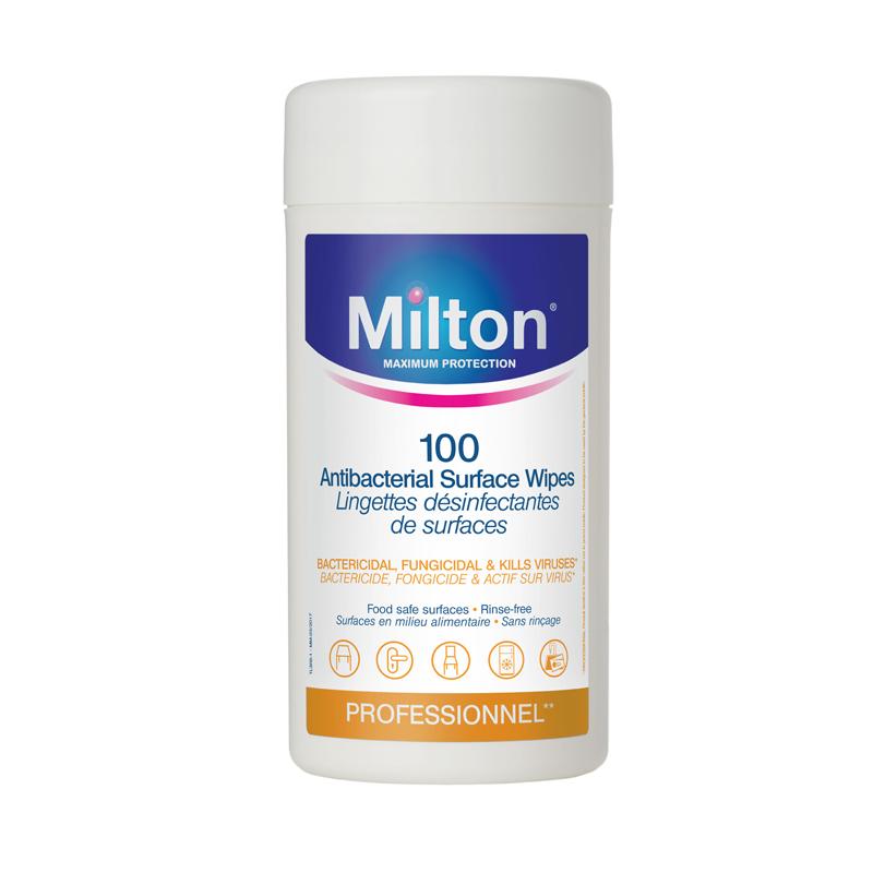 Milton antibakterinės servetėlės (100 vnt.)