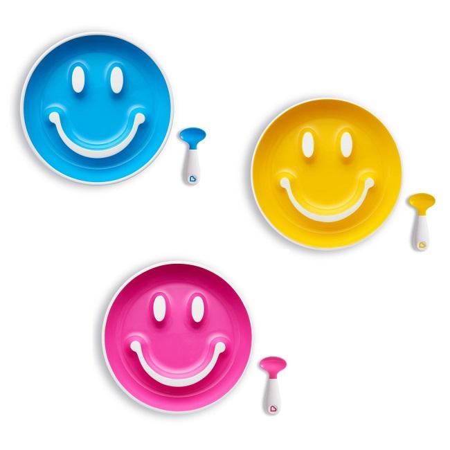 Munchkin lėkštė su šaukšteliu SMILE N SCOOP