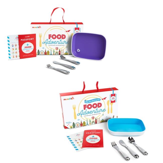 Munchkin lėkštės ir įrankių rinkinys Food Adventure Big Kid Dining Set