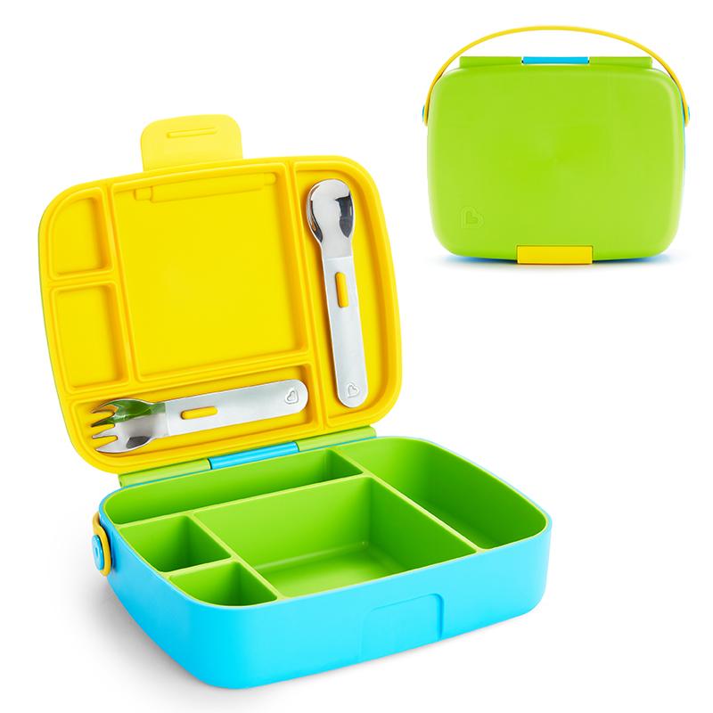 Munchkin pietų dėžutė su įrankiais Bento Box ŽALIA/MĖLYNA