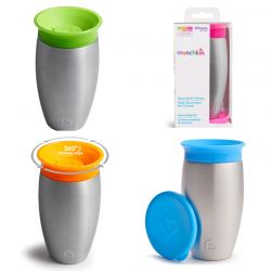 Munchkin gertuvė-termosas Miracle 360 Stainless Steel Sippy Cup 296ml