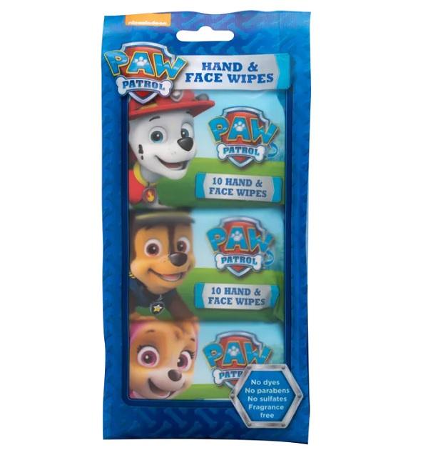 Nickelodeon Paw Patrol  drėgnos rankų ir veido servetėlės 30 vnt. (3x10) BEKVAPĖS