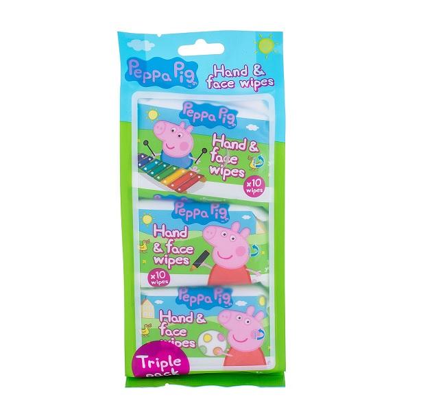 Peppa Pig drėgnos rankų ir veido servetėlės 30 vnt. (3x10) BEKVAPĖS