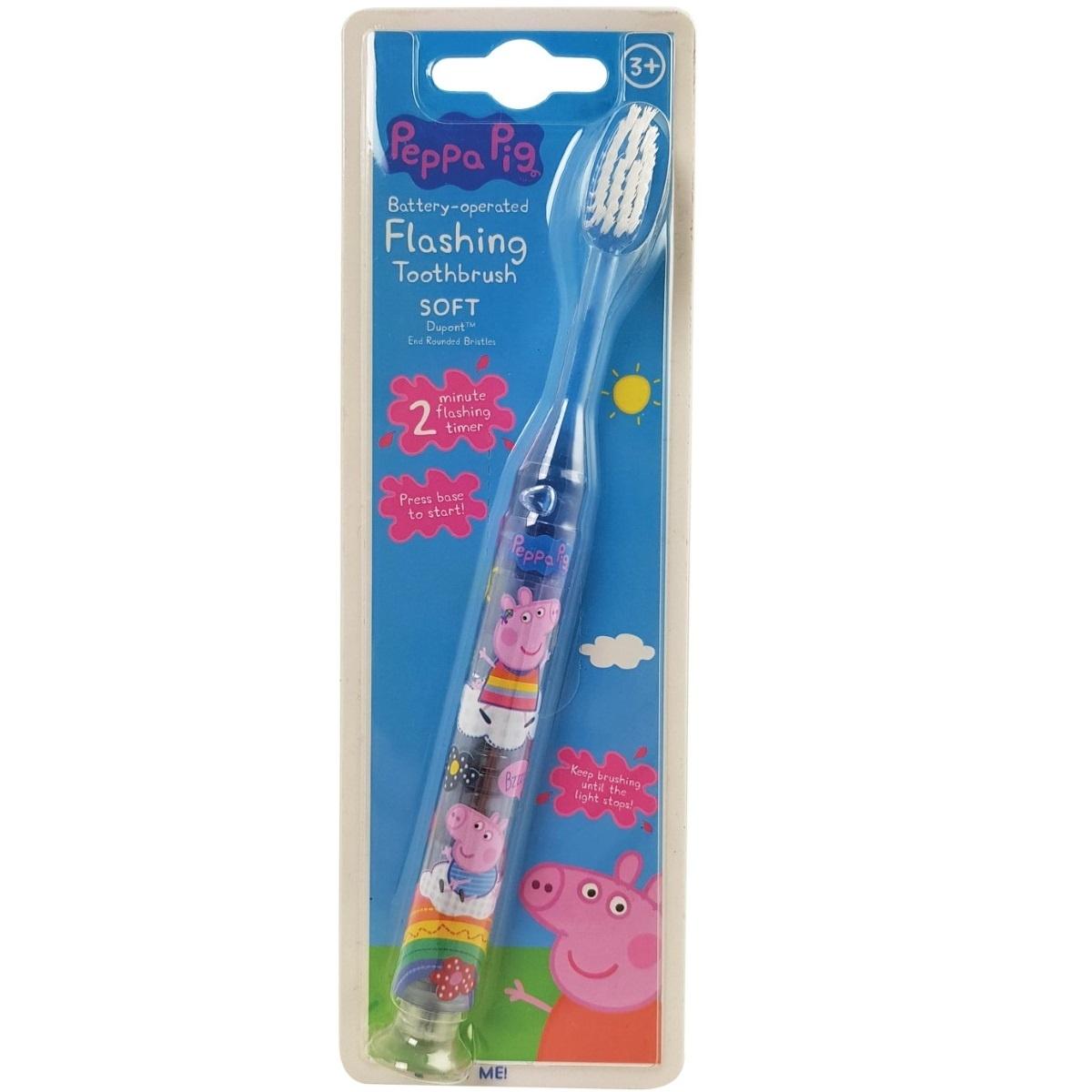 Peppa Pig šviečiantis dantų šepetėlis Flashing Toothbrush