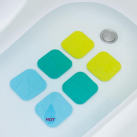 Safety 1st neslystantys padeliai voniai su karščio indikatoriumi