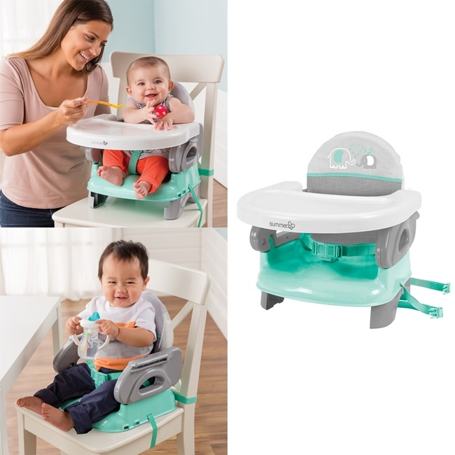 Summer Infant maitinimo kėdutė Deluxe Comfort Folding Booster Seat Teal PILKA
