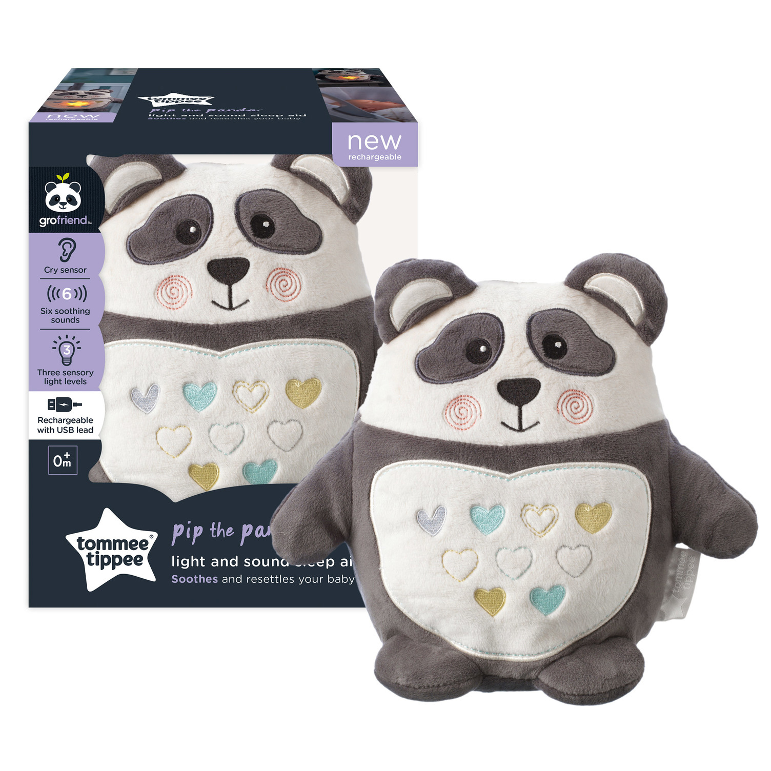 Tommee Tippee  migdukas PANDA Light & Sound Sleep Aid Pip