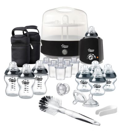 Tommee Tippee rinkinys Closer to Nature Complete Feeding Set JUODAS