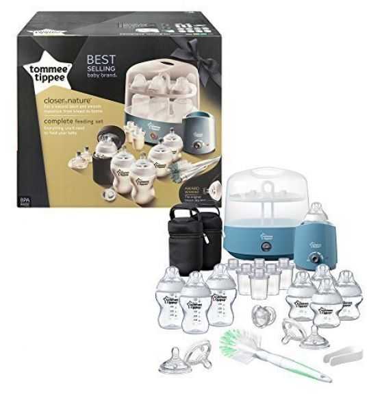 Tommee Tippee rinkinys Closer to Nature Complete Feeding Set MĖLYNAS