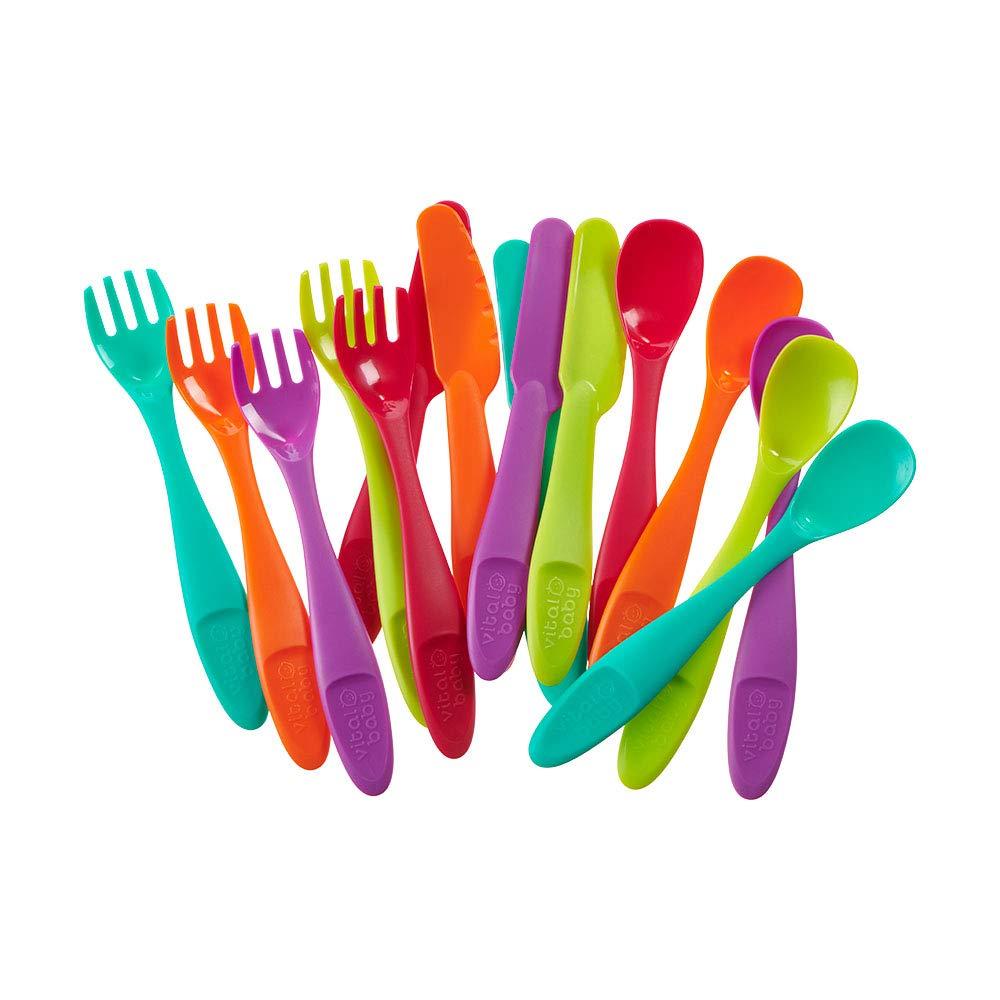 Vital Baby įrankių rinkinys nuo 12 mėn. (šaukštas, šakutė, peilis) NOURISH